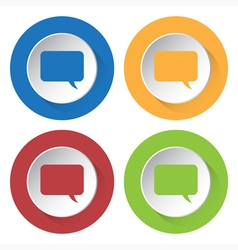 Set of four icons - speech bubble vector