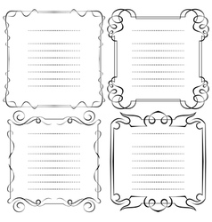 set of frames menu vector image