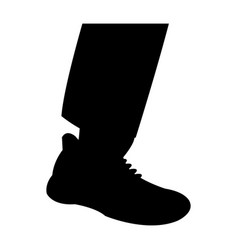 silhouette leg shoe man design vector image