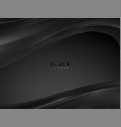 Smooth elegant black satin texture abstract vector