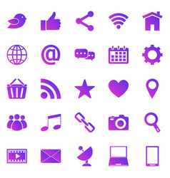 social media gradient icons on white background vector image