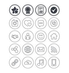 Social media icons speech bubble lovers vector
