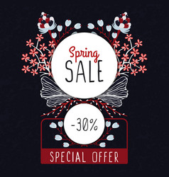 Spring sale special offer floral decoration vector