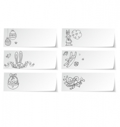 Stickers easter vector