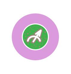 Stylish icon in color circle zodiac sign vector