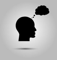 Thinking man icon person thinking icon bubble vector