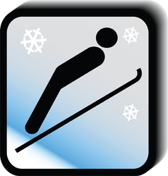 Winter icon -jumps vector image
