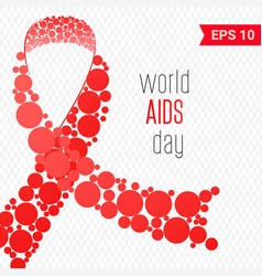 world aids day world aids day awareness poster vector image