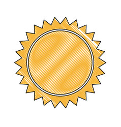 yellow sun sunlight summer climate symbol vector image