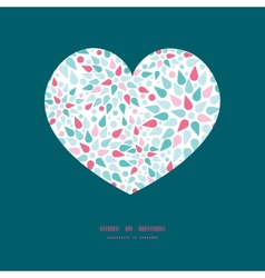 abstract colorful drops heart silhouette vector image