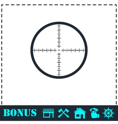 Aim icon flat vector image vector image