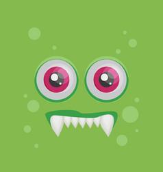 cartoon monster in flat style happy halloween vector image