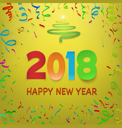 happy new year 2018 calendar template colorful vector image