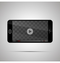 Mock up of realistic glossy smartphone with vector image vector image