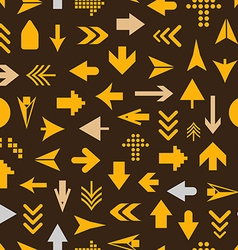Arrow sign silhouettes seamless pattern vector image vector image