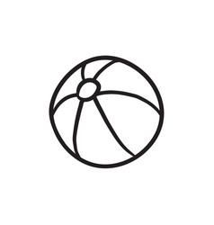 ball sketch icon vector image vector image