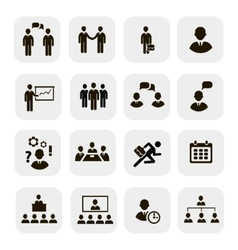 Business people meetings icons vector image vector image
