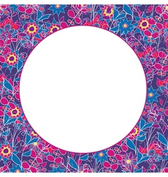 Colorful seamless floral pattern with place for vector image vector image