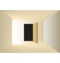 Empty corridor vector image vector image
