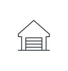 garage thin line icon linear symbol vector image vector image