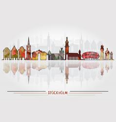 stockholm city background vector image