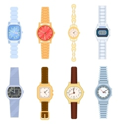 Wrist watch isolated set vector image