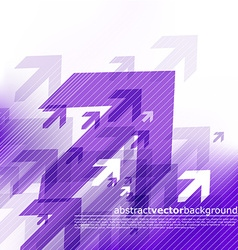 Abstract blue background with arrows vector image vector image