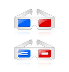 Anaglyphic 3D glasses vector image vector image