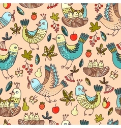Birds and fruit vector image