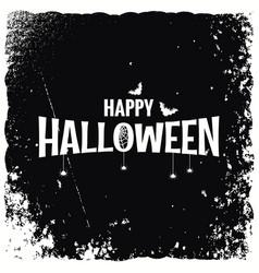 happy halloween banner design background vector image