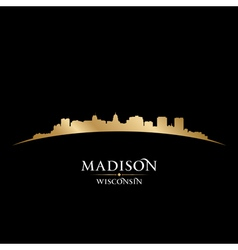Madison Wisconsin city skyline silhouette vector image