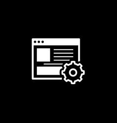 Management icon business concept vector