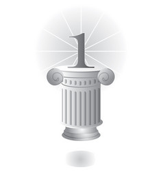pedestal with column and number one vector image