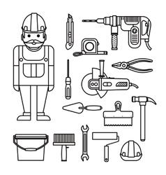 DIY home repairs power vector image