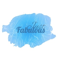 Fabulous blue vector image