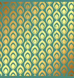 grunge gold and teal pattern background vector image