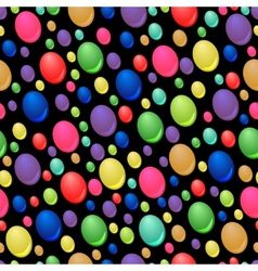 seamless pattern of colorful drops vector image