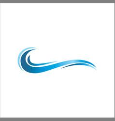 water wave ocean logo vector image