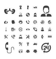 37 support icons vector
