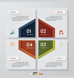 4 steps design clean number banners template vector