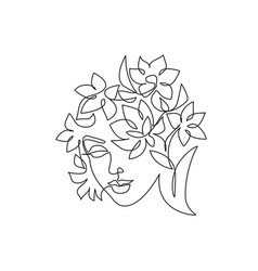 abstract beautiful woman face on white background vector image