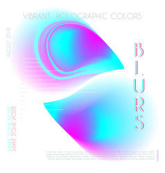 abstract colorful blur gradient drop liquid vector image