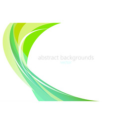 Abstract green colors shapes scene vector