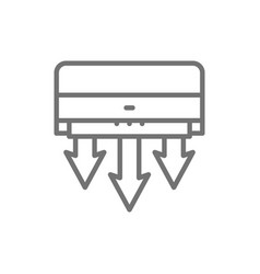 Air conditioning fresh air clearing line icon vector