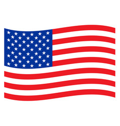 american national flag design graphic vector image