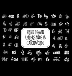 ampersands and catchwords lettering vector image