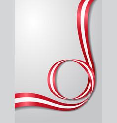 Austrian flag wavy background vector