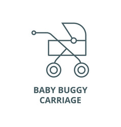 babuggycarriage line icon babuggy vector image