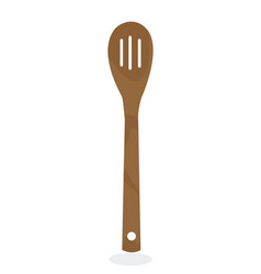 bamboo spoon vector image