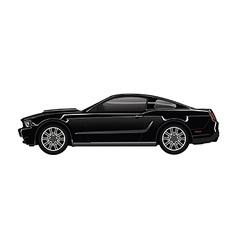 Black sport car vector image